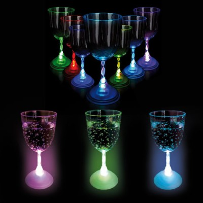 Led Light-up Flashing  Wine Glass